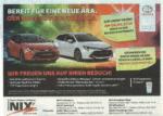 Autohaus NIX Tresor-Gewinnspiel Zeitungsanzeige