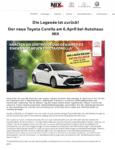 Autohaus NIX Tresor-Gewinnspiel Pressemitteilung