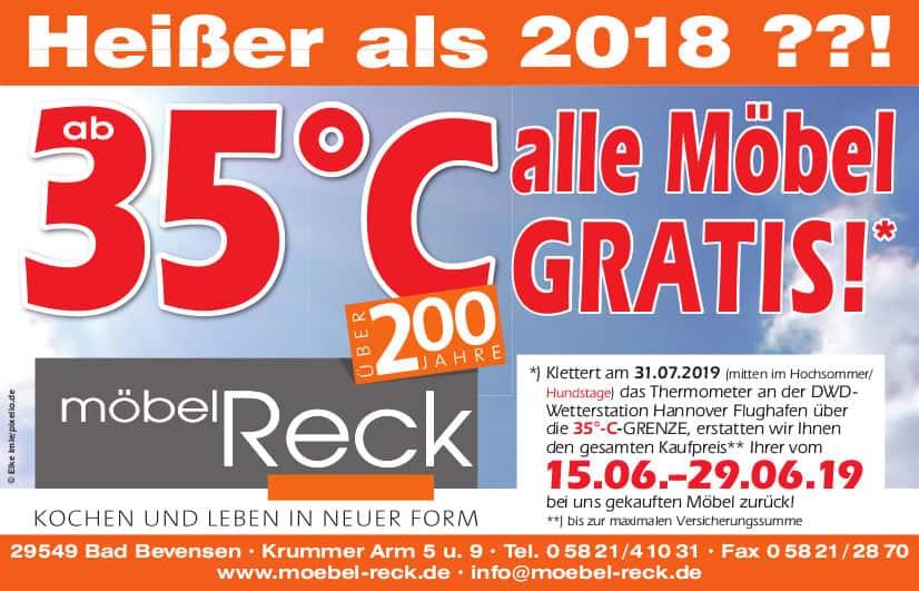 Conditional Rebate Wetter-Promotion absichern Temperaturwette Möbel Reck