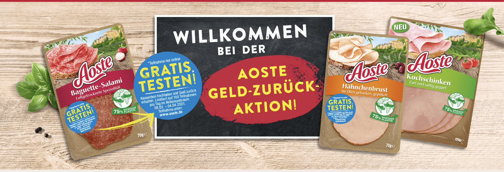 "Cases ""Gratis Testen"" & ""Cash Back"" Aoste"