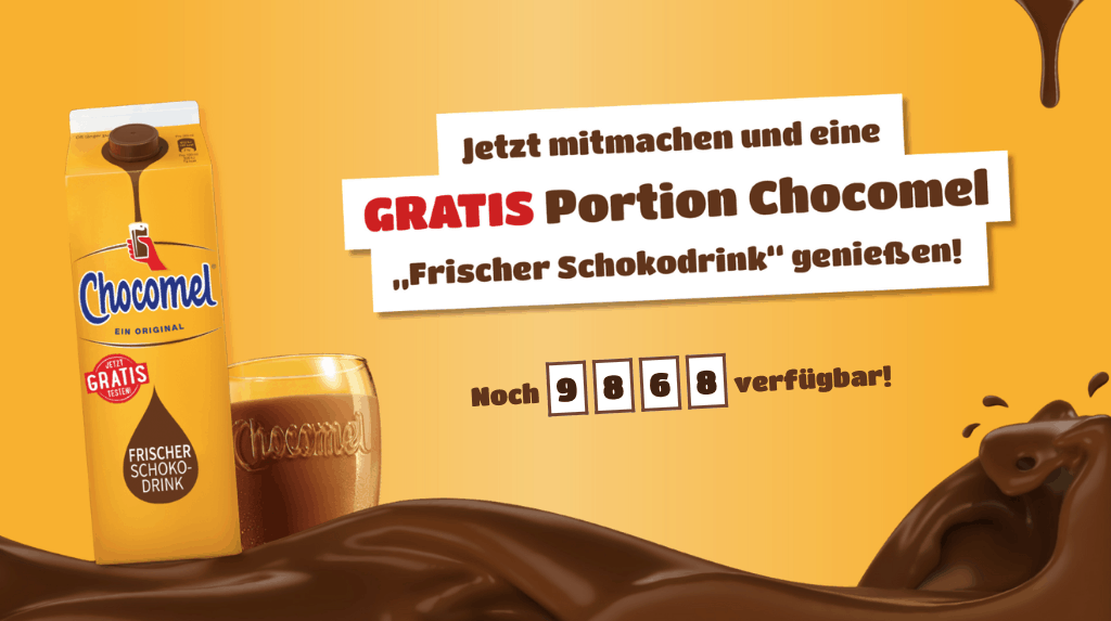 "Cases ""Gratis Testen"" & ""Cash Back"" Chocomel"