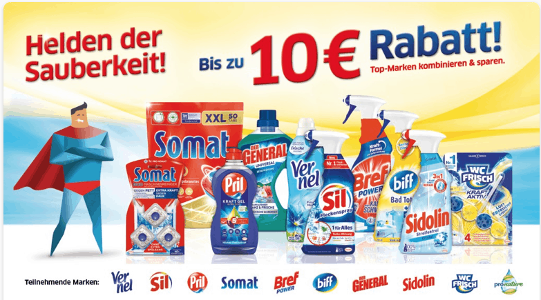 "Cases ""Gratis Testen"" & ""Cash Back"" Helier der Sauberkeit"