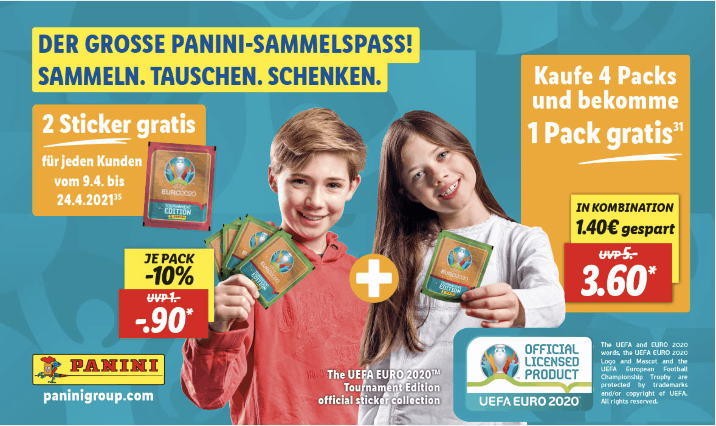 Cases POS-Zugabe-Promotions Lidl Panini