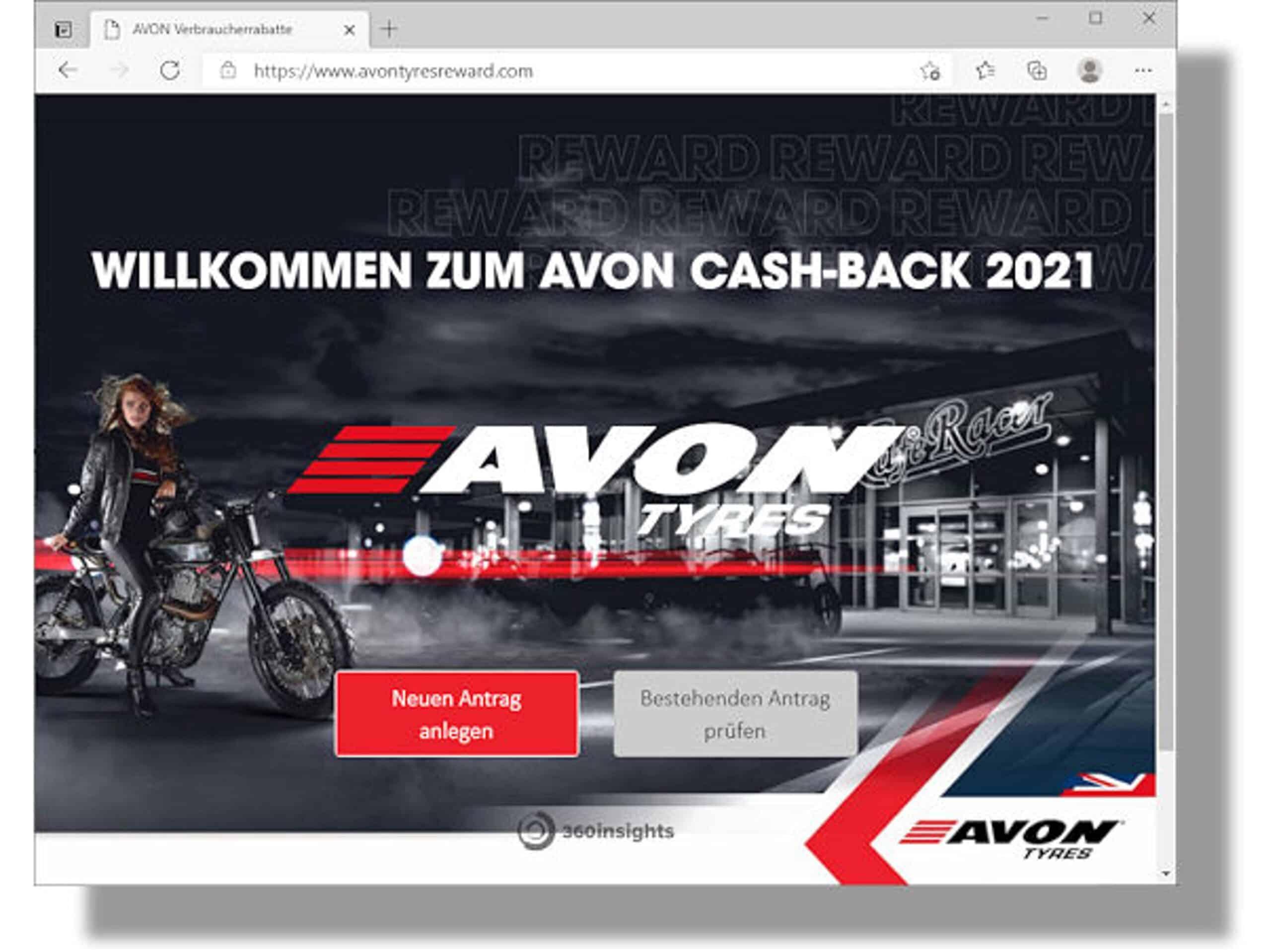 "Cases ""Cash Back"" Avon Tyres"