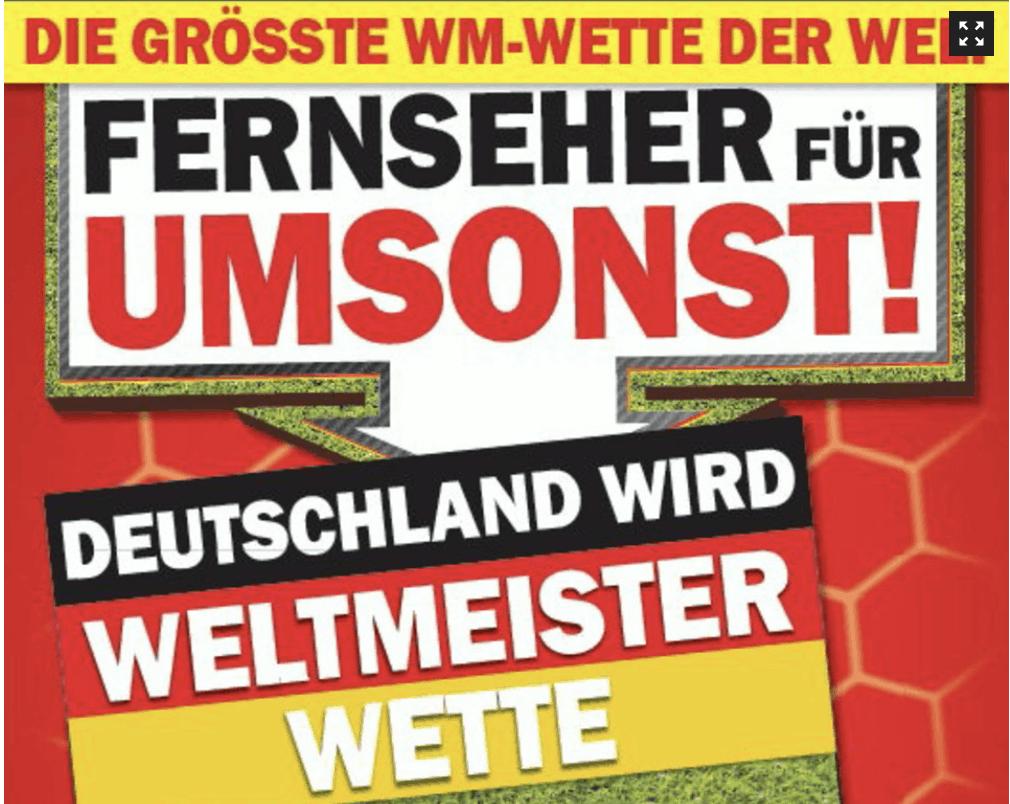 Conditional Rebate Absicherung Media Markt Weltmeister Wette