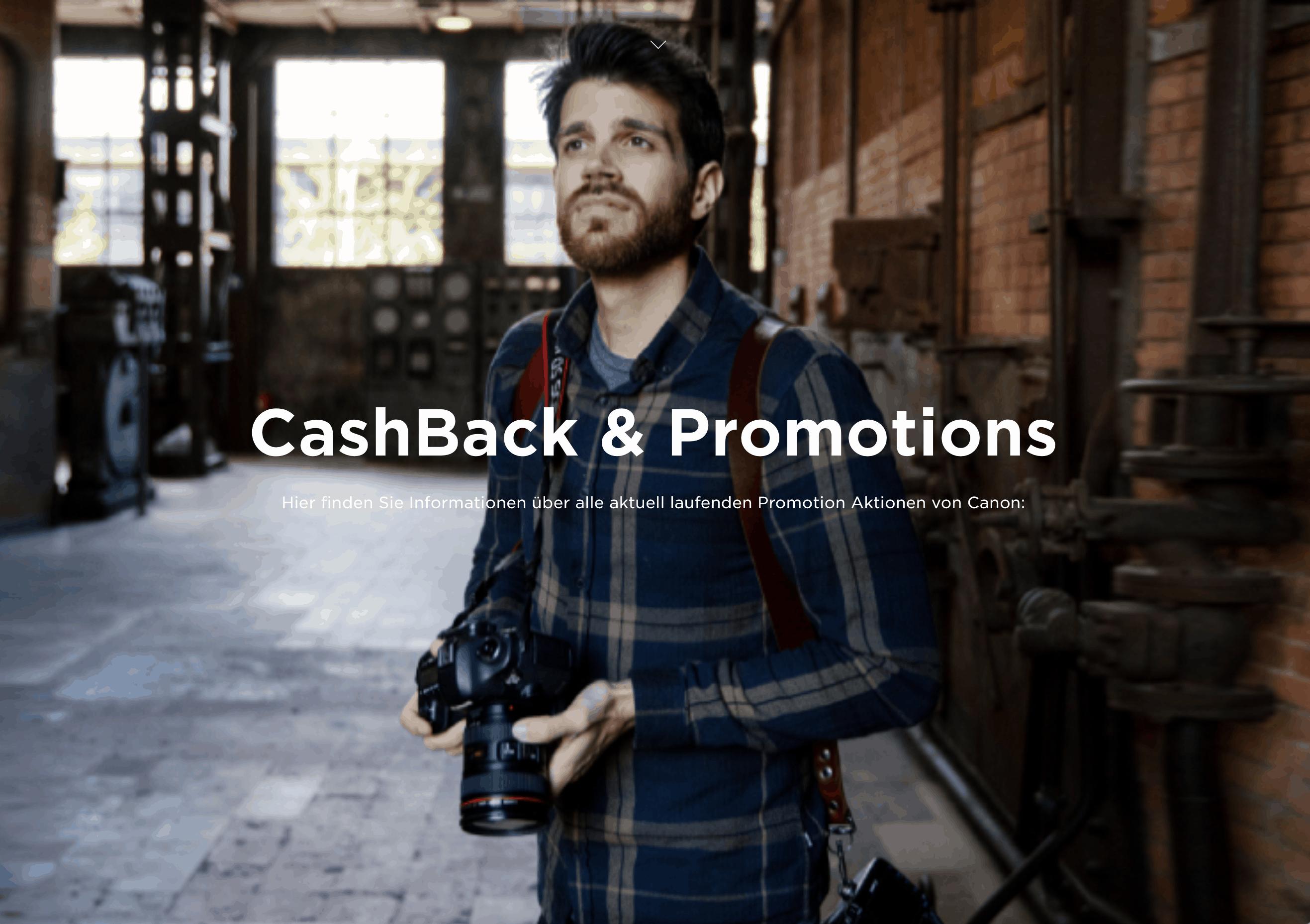 Cash-Back-Aktion von Canon